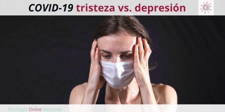 COVID-19 tristeza vs. depresión: Cómo diferenciarlas, Depresión, Ansiedad, Tristeza, Alteración de sueño, Cambios de animo, Agotamiento, Terapia Online