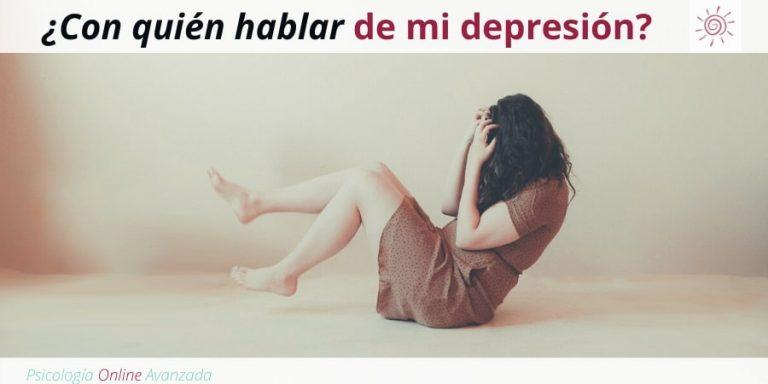 ¿Con quién hablar de mi depresión?, Depresión, Ansiedad, Tristeza, Alteración de sueño, Cambios de ánimo, Agotamiento, Terapia Online