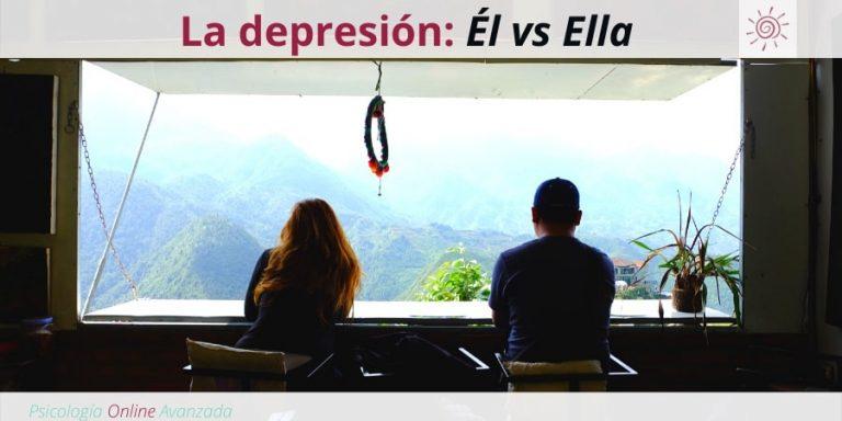 La depresión: Él vs Ella, Depresión, Ansiedad, Tristeza, Alteración de sueño, Cambios de ánimo, Agotamiento, Terapia Online