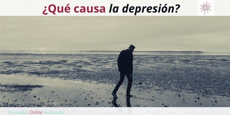 ¿Qué causa la depresión?, Depresión, Ansiedad, Tristeza, Alteración de sueño, Cambios de animo, Agotamiento, Terapia Online